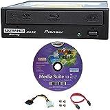 Pioneer 16x bdr-211ubk interne Ultra HD 4K Blu-ray BDXL Brenner in Retail Box, Paket mit Cyberlink Burning Software und Kabel Zubehör