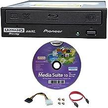 Pioneer 16x bdr-211ubk interno Ultra HD 4K Blu-ray BDXL quemador en caja, con Cyberlink Software de grabación y red accesorios