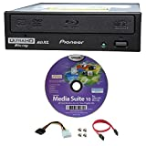 Pioneer 16x BDR-211UBK Internal Ultra HD 4K Blu-ray BDXL Burner in Retail Box, Bundle with Cyberlink Burning Software and Cable Accessories