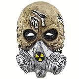 ZX Maske Halloween Latex Terror Schreiende Geistermaske Zombie Geistermaske Kopfbedeckung Resident Evil Head Cover,Fleisch,MJ