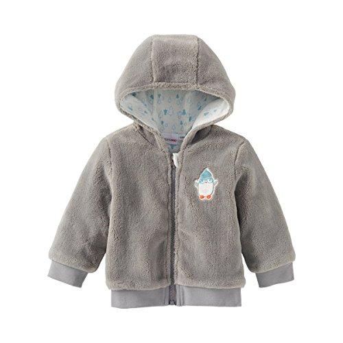 BORNINO Plüschjacke mit Futter Baby-Jacke Babykleidung, Größe 50/56, grau