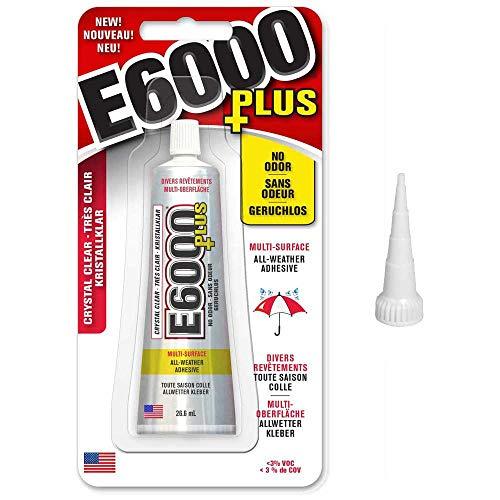 E6000 Plus Kleber und Schnipsspitze, für Stoff, Holz, Glas, Edelsteine, Perlen 26.6ml (Kleber Edelsteine)