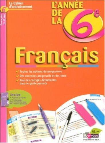 CAHIERS DE L ANNEE DE FRANC 6E par THOMAS GARGALLO, SABINE FAYON