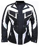 Bangla 1535 Kinder Motorradjacke Touren Jacke Cordura 600 Textil Schwarz-Weiss 176