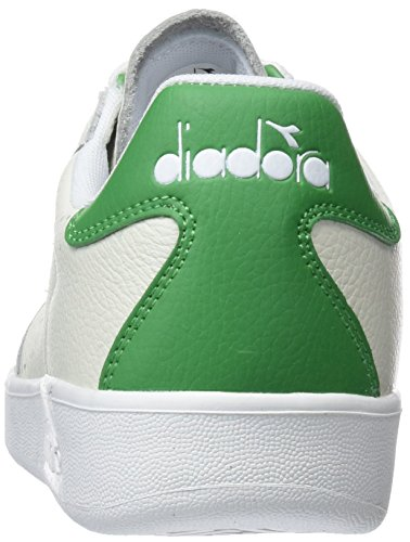 Diadora B.elite L Perf, Baskets Blanches Pour Hommes (blanc Émeraude)