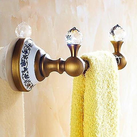 LYNDM Unión Toalleros Latón Monopolar Oro 18cm Toallero Accesorios de Baño, Accesorios de Baño, Set de 4 colores, blanco(#MJG0127)