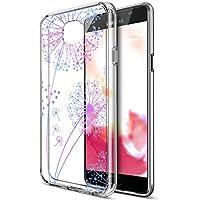 Galaxy A5caso, Galaxy A52016Funda, ikasus arte pintado Mandala de flores transparente delgado Flexible de goma suave Gel TPU Carcasa híbrida carcasa Bumper para Galaxy A52016,, Gradient Dandelion