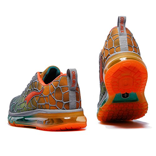 ONEMIX Baskets Basses Homme Chaussures de Running Entrainement Homme Ultraléger Air A Grey / Orange