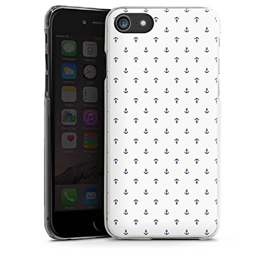 Apple iPhone X Silikon Hülle Case Schutzhülle Anker Muster Weiß Blau Hard Case transparent