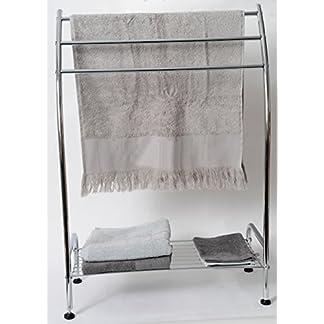 51Ai3cPIFZL. SS324  - Tendance - Mueble toallero de pie (metal, acabado cromado para baño, baño o cocina)