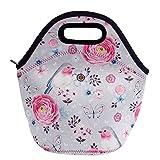 Acelane Neopren Wärmeschutz Lunch-Bag im Kunstdesign mit Tragetaschengriff für Frauen, Kinder, Mädchen, Großes Pack, Größe 20 x 15 x 16 cm (A2)