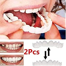 2 Piezas (Dentadura Superior Para Los Dientes) Reutilizable Para Adultos Snap On Perfect Smile