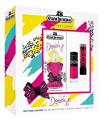 EAU JEUNE Coffret Double Je, Eau de Toilette 48 ml + Vernis ColorShow + Baby Lips MAYBELLINE
