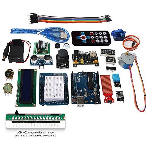 51Ai5JcWv5L - Smraza Starter Kit para Arduino UNO R3 con Guías Tutorial, Placa UNO R3, Servomotor, Modulo de Fuente de Alimentación y LCD1602 para Conjunto de Arduino Mega 2560 NANO