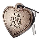 """Schlüsselanhänger aus Holz mit Gravur """"Beste Oma"""