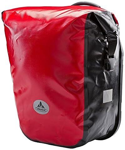 VAUDE World Tramp H20 - Paire de sacoche arrière vélo Bike - 42 litres - rouge/noir