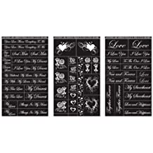 Rub 'N' Etch Designer Stencils 5X8 3/Pkg-Romantic Moments by Armour Products