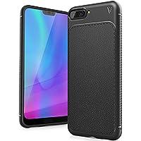FindaGift Huawei Honor 10 Funda, TPU Suave Ultra Delgado [Inastillable][A prueba de choques][Protección completa] Bumper A prueba de huellas Back Cover con base antideslizante para Honor 10 (Negro)