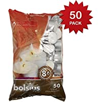 "Bolsius  8 hour burning Tealights, Bag ""50"""