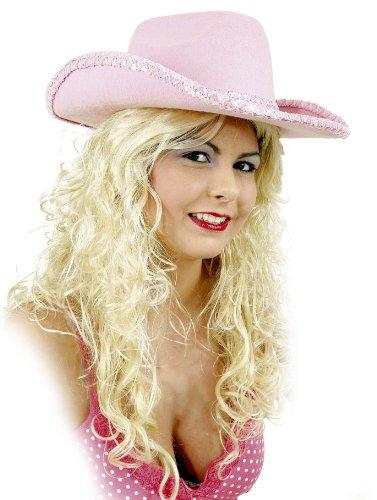 Sombrero de cowboy para mujer rosa sombrero de cowboy Western Carnaval Western sombrero gorro de mujer JGA despedida de soltera