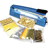 HITSAN 220V Electric Manual Bag Sealer Seal Ring Machine Food Tea Plastic Bag Heating Seal Ring Machine One Piece