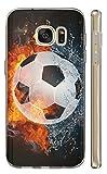 Kuna-Mobile Hülle für Samsung Galaxy S4 Mini Hülle aus Silikon Motiv 1152 Fussball Handyhülle Backcover Fußball Schutzhülle Soft Cover TPU Handy Case Hülle für Samsung Galaxy S4 Mini