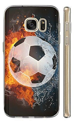 Kuna-Mobile Hülle für Apple iPhone 5 / 5s / SE Hülle aus Silikon Motiv 1152 Fussball Handyhülle Backcover Fußball Schutzhülle Soft Cover TPU Handy Case Hülle für Apple iPhone 5 / 5s / SE
