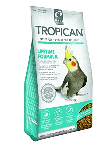 Tropican 1.8-Pound Lifetime Maintenance Cockatiel Granules, Standup Zip Bag by Hari