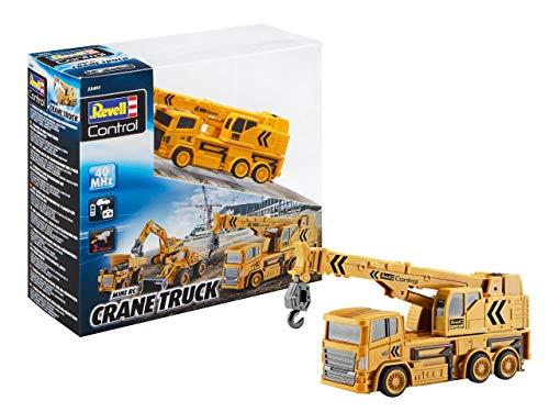 RC Auto kaufen Baufahrzeug Bild: Revell Control 23497 RC Baufahrzeug Kranwagen, 40MHz, Akku ferngesteuertes Auto, gelb-orange, 12,5 cm*