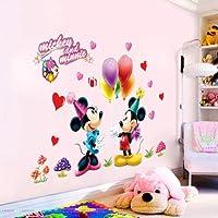 Utopiashi Cartoon Movie Mickey Minnie Mouse Decals Wall Sticker Kids Nursery Room Decor