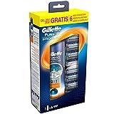 Gillette Fusion ProGlide 6 Lamette di Ricambio per Rasoio con Gel da Barba Fusion 2 in 1 Active Sport 170 ml Gratis