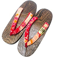 [Japon Made] Chaussures Hommes Geta Paulownia bois Sandals traditionnel Shima design Taille L XRYOQpQsD