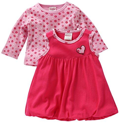 Schnizler Mädchen Kleid Interlock Kleidchen Herzchen, Oeko-Tex Standard 100, Rosa (pink 18), 74