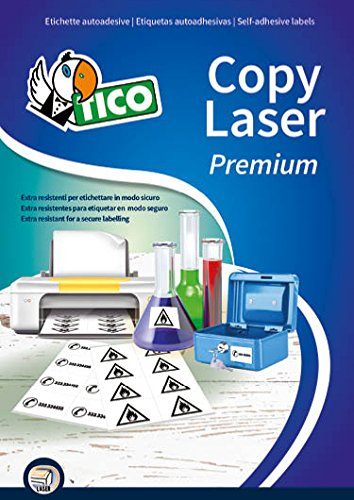 Tico LP4P-4825 Etichetta in Poliestere, 70 FF, 48.5 x 25.4, Bianco