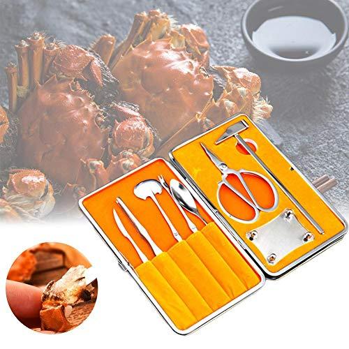 Sincey strumento per granchio–kit di 8strumenti di frutti di mare, acciaio inox 420, multifunzione e duratura