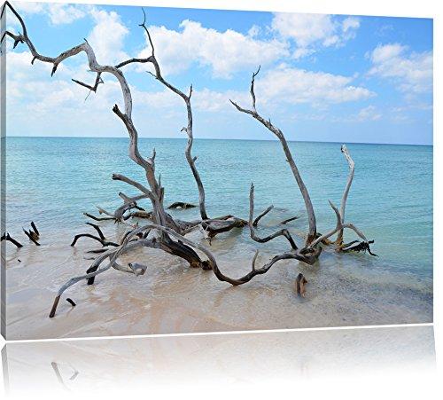 Strand Meer Havanna Kuba USA Format: 60x40 cm auf Leinwand, XXL riesige Bilder fertig gerahmt mit Keilrahmen, Kunstdruck auf Wandbild mit Rahmen, günstiger als Gemälde oder Ölbild, kein Poster oder Plakat