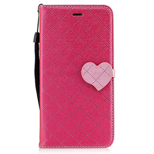 iPhone 7 Plus Custodia, iPhone 7 Plus Cover Wallet, SainCat Custodia in Pelle Cover per iPhone 7 Plus, Anti-Scratch Protettiva Caso Elegante Creativa Dipinto Pattern Design PU Leather Flip Portafoglio Rose