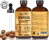 Arganöl, 100% reines, zertifiziertes marokkanisches Bio-Arganöl, kalt gepresst, 100ml für Haar, Nägel, Gesicht, Körper, Hände und Füße, Lieferung in Glasflaschen mit Pipette