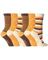 6 Paar Mädchen Designer ELLE Socken