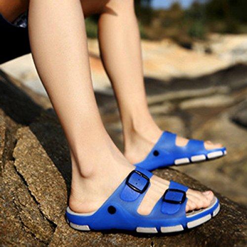 QVRGE Hommes Et Femmes Pantoufles Sandales Antidérapantes Pantoufles Dintérieur Pantoufles De Plage GrayBlueMaleModels
