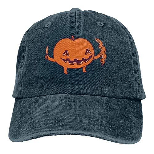 deyhfef Halloween Kürbis Unisex Washed einstellbare Cowboyhut Denim Baseballmützen Fashion12
