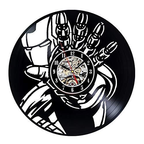 (ZY&DD Vinyl wanduhr,Rekord wanduhr,Wand Uhren,Kreative Retro-Nostalgie Band Für Office Wohnzimmer Schlafzimmer Klassenzimmer-A 12inch)