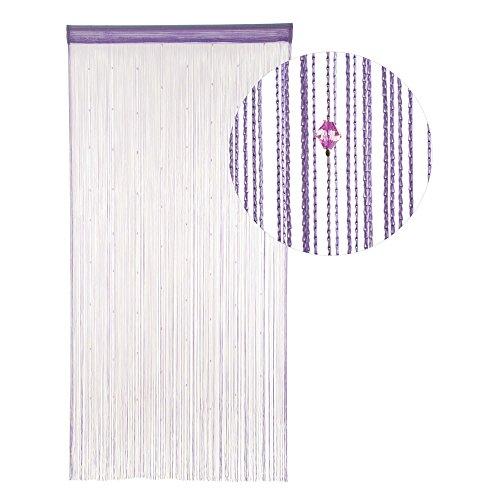 Hab & Gut -DV0129A- Cortina Hilos Puerta Violeta