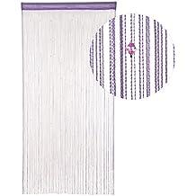 HAB & GUT (DV0129A) Cortina de HILOS para puerta VIOLETA, 90 x 190 cm