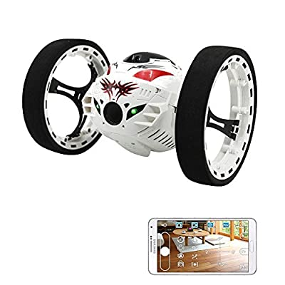 Rabing 2.4G RC Control Bounce Car WIFI Jumping Sumo Jump Car with 2M HD Camera-Updated Version