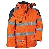Cofra Warnschutz Winterjacke 4-in-1 Protection V024-0-01, Wetterschutzjacke, Große 52, 40-00V02401-52
