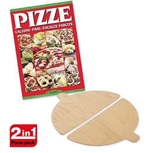 Spice Set Spice - Palette in Legno per Forni Pizza Spice- G3ferrari- Optima- Ariete - Melchioni + Ricettario Pizza Calzoni Pane