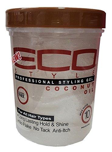 Eco Styler Gel coiffant professionnel à l'huile de coco Tenue maximale 946 ml