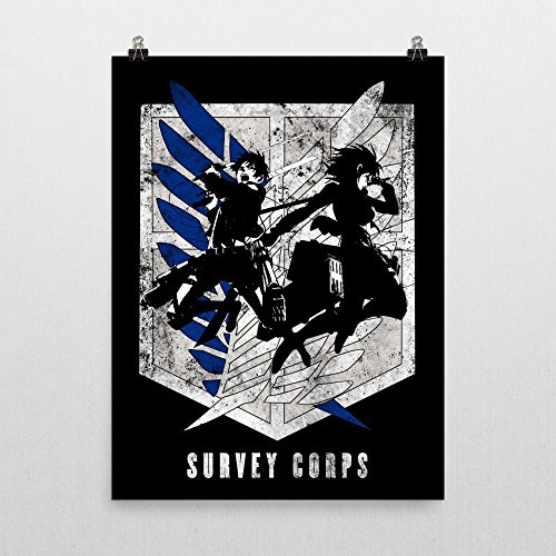 eren-mikasa-survey-corps-attack-on-titan-poster-by-geek-me-that-metal-poster-available