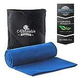ALPHASKIN© Premium Fitness Handtuch | Mikrofaser Handtücher für Sport, Fitnessstudio, Gym und Reisen | Microfaser Tücher schnelltrocknend | Sporthandtuch | Badehandtücher | 50cm x 100cm